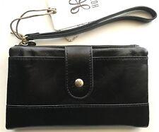 Hobo International Colt black leather wristlet wallet, R$118