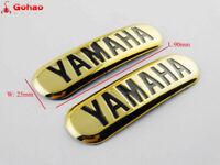 Petrol Fuel Tank Badges Stickers L/R Set for YAMAHA SR400 SR500 Gold Logo Emblem
