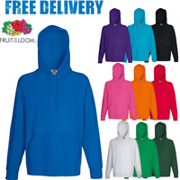 59d93e3f2 Fruit of the Loom HOODIE SWEATSHIRT HOODED PLAIN LIGHT TOP JUMPER COLOURS  S-2XL