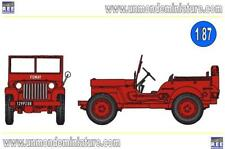 JEEP JEEP Pompier bache FUMAY REE MODELES - RECB 088 - Echelle 1/87