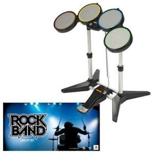 Harmonix Rock Band Wired Drum Set PS2/ PS3 w/ Foot Pedal & Drumsticks Open Box