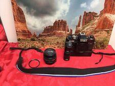 Minolta X-700 SLR 35mm Film Camera w/Minolta 1:17 50mm Lens Motor Drive 1 Tested