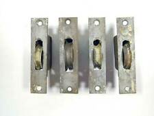 set of 4 Victorian Cast Iron Window Sash Pulleys in working order drive-in type