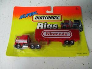 "Matchbox Thailand Convoy CY-8 Kenworth Box Truck ""Nintendo"", blistercard"