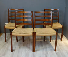 4x Niels O. Møller Chairs Stuhl Stühle Danish Design Palisander , Rosewood