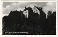 Ansichtskarte Blick auf Schloss Waldburg in Oberschwaben - schwarz/weiß