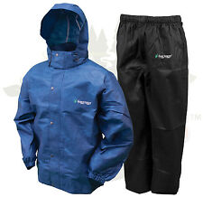 Frogg Toggs All Sport Rain Suit Jacket & Pants Gear Wear Sports Frog Blue LG