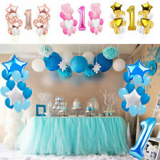 First 1st Birthday Boy Girl Filled Balloons Baby Party Number 1 Decoration 25PCS