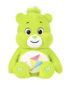 "9"" Care Bears Green Do-Your-Best Bear Stuffed Bean Kite Plush 2021 NEW NO TAGS"
