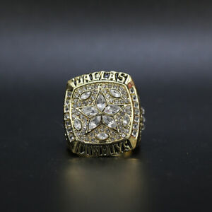Dallas Cowboys 1995 Super Bowl Championship Gold Ring Replica With Wooden Box