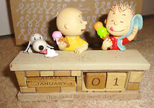 NEW Hallmark Peanuts Sweet Day Perpetual Calendar Snoopy, Charlie Brown & Linus