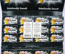 Gillette 7'o Clock Super Platinum :: 50 Blades :: Shaving Razor Blades