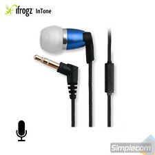 iFrogz Spectra Headphones Earphones Nylon Cable w/ MIC for Android iPhone BLUE