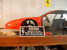 Ferrari Testarossa Metal Display Plaque For Model 1/8 1/12 1/16 1/18 1/24 Pocher