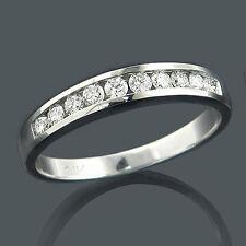 Joya de oro Anillos Diamantes 14 k 14 k Oro blanco 0,55 quilates nuevo