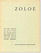 Marquis de Sade ZOLOÉ ET SES DEUX ACOLYTES Ltd ed [1954] VG condition