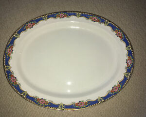 VINTAGE BOOTHS SILICON CHINA 1920s/1930s Made For Harrods. Oval Platter 18 x 15