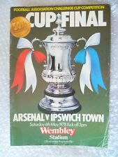 1978 FA Cup FINAL Programme- Arsenal v Ipswich Town, 6th May