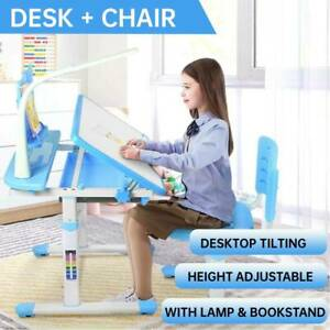 Height Adjustable Kids Study Desk & Chair Set Ergonomic Children's Drawing Desk