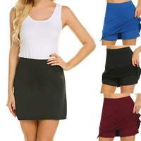 Shorts Inside Skirt Women's Short Dress With Hidden Pants