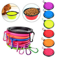 Pet Dog Portable Silicone Collapsible Travel Feeding Bowl Food Water Dish Feed#