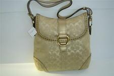 COACH SIGNATURE GOLD STUDDED LUREX FLAP DUFFLE BAG 12852 - GOLD - NEW WITH TAG