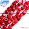 """Freefrom Nugget Red Coral Gemstone Beads For Jewelry Making Free Shipping 15"""""""