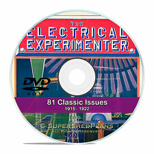 The Electrical Experimenter, 81 back issues, Science, Invention Magazine DVD V47
