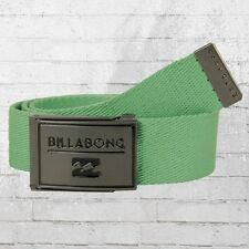 Billabong tela cinturón sargento Belt verde de tela cinturón webbing Belt jade Green