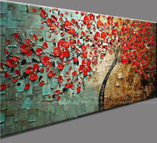ZOPT02 Huge Hand-Painted Oil Painting flowers Abstract Art Deco Wall On Canvas