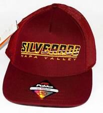 New Men's Pukka Headwear Maroon Lw Twill/Tech Mesh Ultra-Fit Golf Hat Silverado