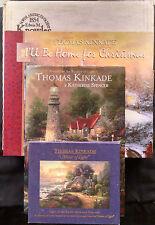 Thomas Kinkade Bundle Including X-Mas Plate Sleighride Home-2 Cd's & 2 Books