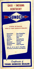 1953 Road Map of Ohio, Indiana & Kentucky from Sunoco