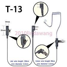 2-wire Headset Earphone mic for Icom IC-F3001 IC-F4001 Portable radio