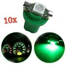 10x T5 B8.5D 5050 1SMD Car LED Green Dashboard Dash Gauge Instrument Light Bulbs