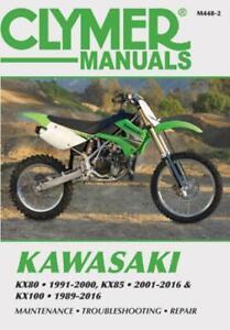Kawasaki KX80 (1991-2000), KX85/85-II (2001-2016) & KX100 (1989-2016) Service Re