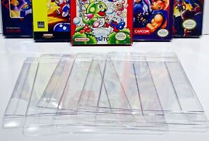 25 NINTENDO NES Box Protectors Custom Clear Video Game Display Cases Sleeves CIB