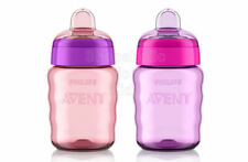 SFK Philips Avent My Easy Sippy Cup, 9 Ounce, Pink/Purple - Pack of 2