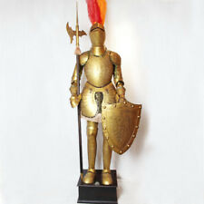 Medieval Knight in Suit of Armor 6.5' high 2meters with battleax and shield