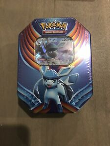 Pokemon TCG Card Evolution Celebration Tin - Glaceon GX - IN HAND FACTORY SEALED