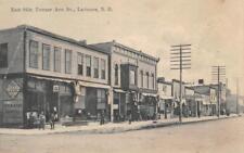 Towner Ave, Larimore, ND Street Scene, Dentist Sign ca 1910s Vintage Postcard