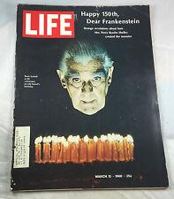 Boris Karloff Frankenstein March  1968  Life Magazine Vintage