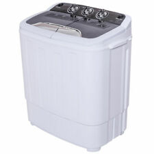 Compact Mini Twin Tub 13lbs Washing Machine Washer Spin Dryer