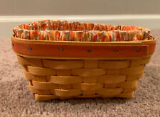Longaberger 1999 Candy Corn Basket With Protector And Liner