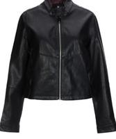 G-Star Raw Biker Jacket Black Ladies Women's UK Size Medium *REF38*