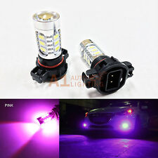 2x Pink H16 5202 15w High Power Bright LED Bulbs 5730 SMD Fog light Replacement