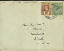 Early Straits Settlements Cover To Florida