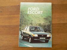FORD ESCORT INSTRUCTIE BOEKJE INSTRUCTION BOOK 1982 CAR AUTO