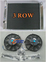 3CORE Aluminum Radiator for HOLDEN COMMODORE VB VC VH VK V8 AT/MT+TWO FANS