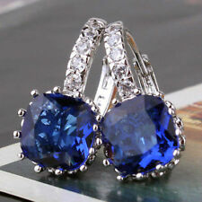 Birthday Gift for Women Ladies Beautiful Sapphire Blue Gold filled Earrings
